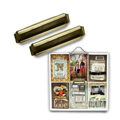 7Gypsies - Printers Tray - Label Holder - Antique Gold 4/Pk