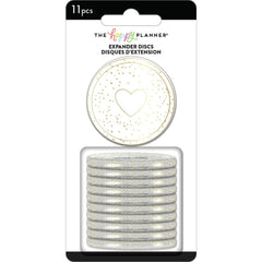 Me & My Big Ideas - Happy Planner Medium Expander Discs 1.75in  11 pack  - Gold Glitter