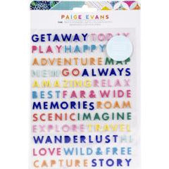 American Crafts Paige Evans - Go The Scenic Route Puffy Stickers 146 pack - Word