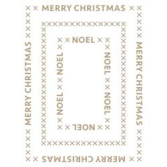 Spellbinders Glimmer Hot Foil Plate - Christmas Essentials Glimmer Rectangles