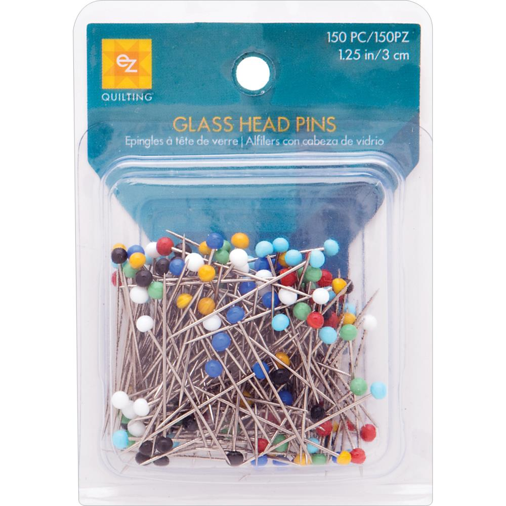 EZ Quilting Glass Head Pins Size 20 150 pieces