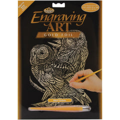 Dolphin Reef ROYAL BRUSH Rainbow Foil Engraving Art Kit 8-Inch by 10-Inch