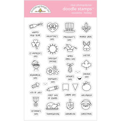 Doodlebug Clear Doodle Stamps Occasions - Holiday