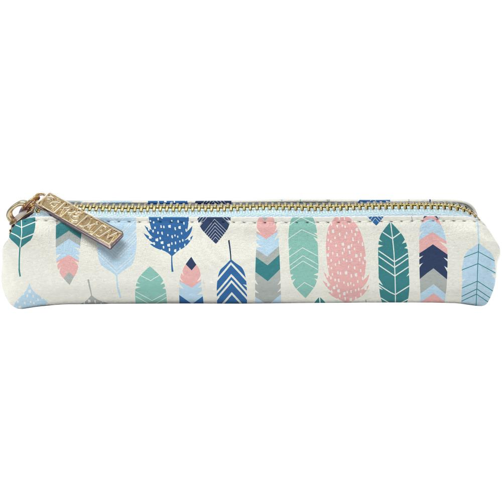 Carpe Diem - Slim Pencil Case - Feathers