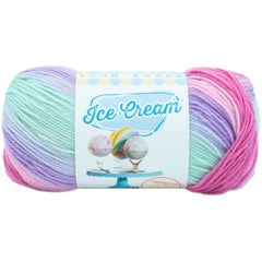 Lion Brand Ice Cream Yarn - Ube - 3.5oz/100g