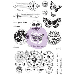 Prima Art Daily Planner Clear Stamps 4x6 inch - Dream Without Fear