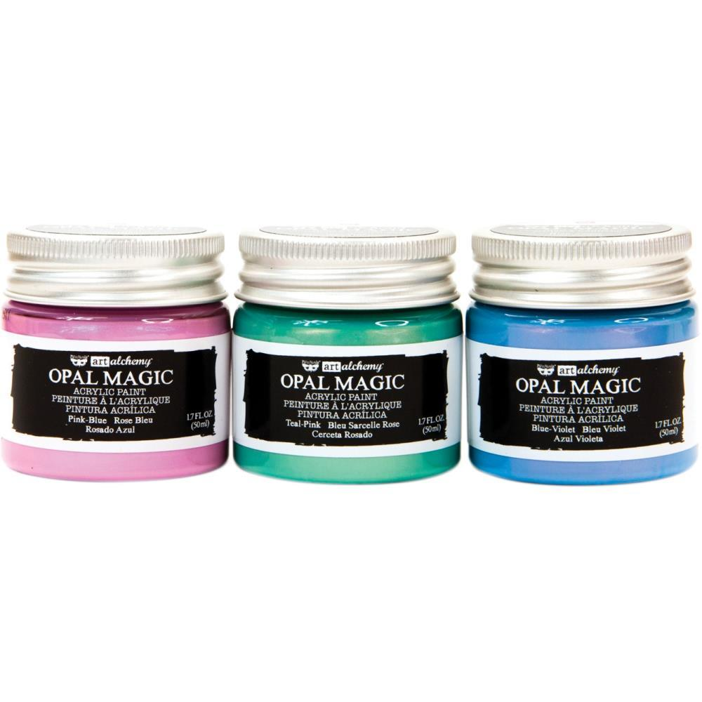 Prima Marketing Finnabair Art Alchemy Opal Magic Acrylic Paint Set 3 pack Unicorn, 1.7 Fl Oz Each