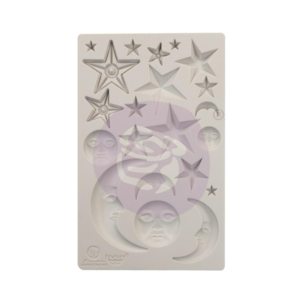 Prima Marketing Finnabair Decor Moulds 5 inch X8 inch Stars & Moons