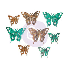 Prima Marketing Finnabair Mechanicals Metal Embellishments Scrapyard Butterflies 8 pack
