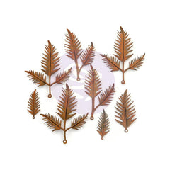 Prima Marketing Finnabair Mechanicals Metal Embellishments Woodland Fern 8 pack