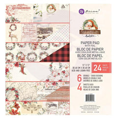 Prima Marketing - Double-Sided Paper Pad 12 inch X12 inch 24 pack - Christmas In The Country 6 Designs/4 Ea