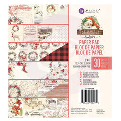 Prima Marketing - Double-Sided Paper Pad 6 inchX6 inch 30 pack - Christmas In The Country 6 Designs/5 Ea