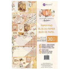 Prima Marketing - Double-Sided Paper Pad A4 30 pack - Autumn Sunset - 6 Designs/5 Each