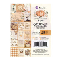 Prima Marketing - Autumn Sunset - Journaling Cards 3 inchX4 inch 45 pack - 15 Designs/3 Each