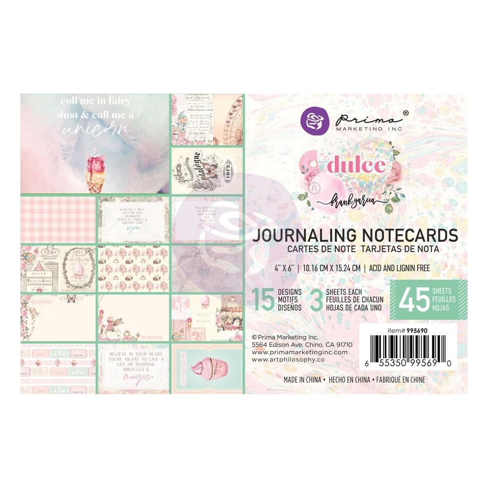 Prima Marketing - Dulce By Frank Garcia Journaling Cards - 4 inchX6 inch 45 pack 15 Designs/3 Each