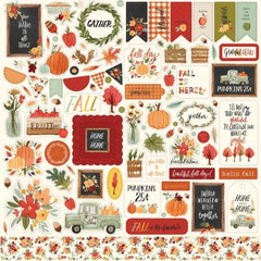 Carta Bella - Hello Autumn Cardstock Stickers 12in x 12in - Elements