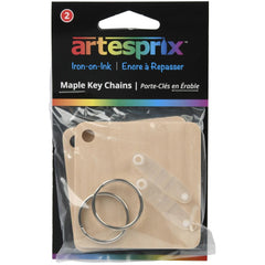 Artesprix Iron-On-Ink Key Chain 2 pack - Maple - 2.4in x 2.4in