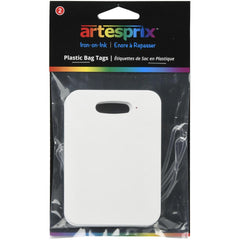 Artesprix Iron-On-Ink Bag Tag 2 pack - Plastic- 2.7in x 3.8in