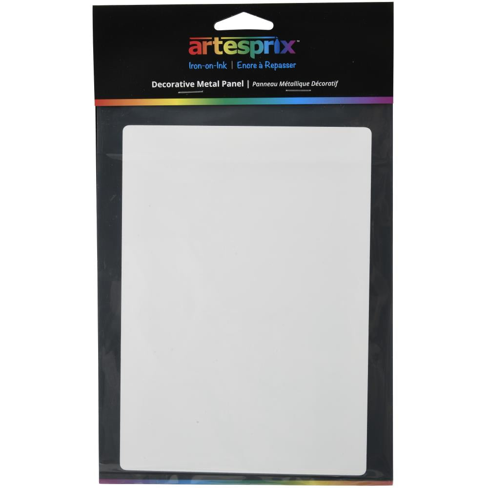 Artesprix Iron-On-Ink Decorative Metal Panel 5in x 7in  White