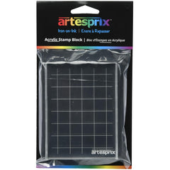 Artesprix Iron-On-Ink Acrylic Stamp Block 3in x 3.875in - Clear