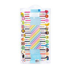 American Crafts - Art Supply Basics Collection - Pencil and Eraser Kit - Rainbow - 48 Pieces
