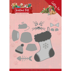 Find It Trading Amy Design Die - Christmas Cat, Christmas Pets