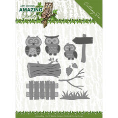 Find It Trading Amy Design Die - Owl Family, Amazing Owls