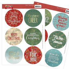 Find It Trading Amy Design Pushout-sheets - Text, Christmas Pets