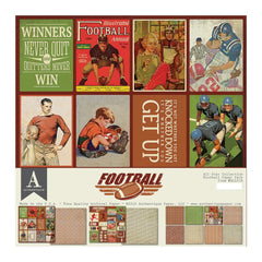 Authentique All-Star Paper Pack 12in x 12in - Football
