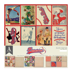 Authentique All-Star Paper Pack 12in x 12in - Baseball