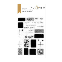 Altenew Piles of Presents Stamp Set 6in x 4in