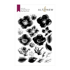 Altenew Zig Zag Floral Stamp Set 6in x 8in