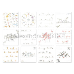 Alexandra Renke Design Paper Pack 6in x 6in - 12 pack  School, 12 Designs