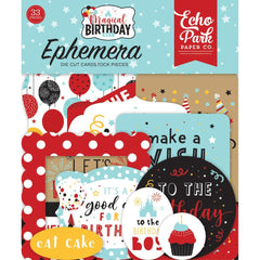 Echo Park Cardstock Ephemera 33 pack  Icons, Magical Birthday Boy
