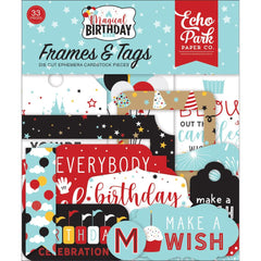 Echo Park Cardstock Ephemera 33 pack  Frames & Tags, Magical Birthday Boy