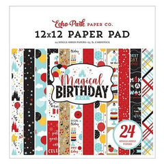 "Echo Park Single-Sided Paper Pad 12""x 12"" 24 pack  Magical Birthday Boy, 12 Designs/2 Each"