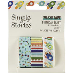 Simple Stories - Birthday Blast Washi Tape 3 pack