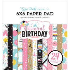 "Echo Park Double-Sided Paper Pad 6""x 6"" 24 pack  Magical Birthday Girl"