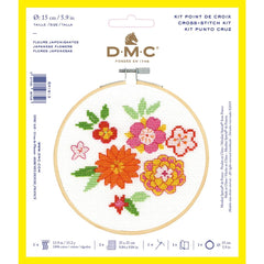 DMC Cross Stitch Kit XS - Japanese Flowers (14 Count)