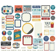 Simple Stories Bro & Co. Bits & Pieces Die-Cuts 57 pack  Journal