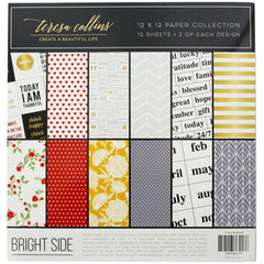 Teresa Collins Paper Collection 12in x 12in 12 pack - Brightside, 6 Designs/2each