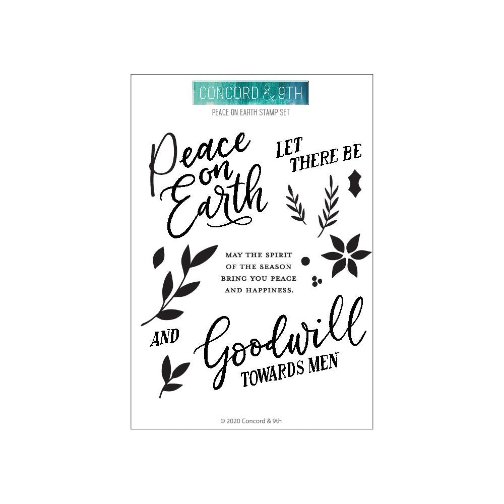 Concord & 9th Clear Stamps 4in x 8in - Peace On Earth