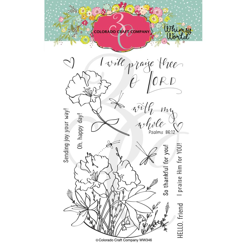 Colorado Craft Company Clear Stamps 4in x 6in - My Whole Heart-Whimsy World