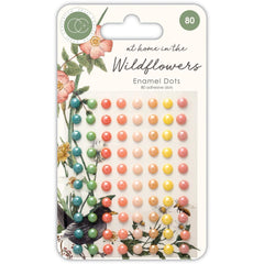 Craft Consortium Adhesive Enamel Dots 80 pack  - Assorted colours