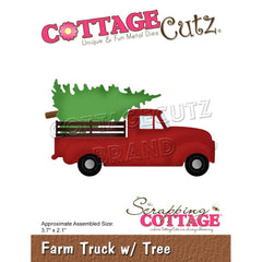CottageCutz Dies - Farm Truck  with Tree, 3.7 inch X2.1 inch