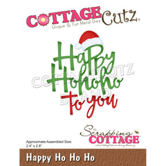CottageCutz Dies - Happy Ho Ho Ho, 2.4 inch X2.8 inch