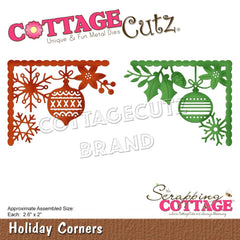 CottageCutz Dies - Holiday Corners, 2.6 inch X2 inch