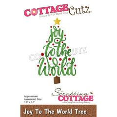 CottageCutz Dies - Joy To The World Tree, 1.8 inch X3.1 inch