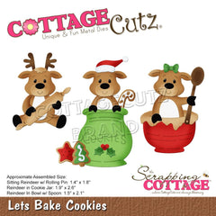 CottageCutz Dies - Let's Bake Cookies, 1.4 inch  To 2.6 inch