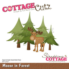 CottageCutz Dies - Moose In Forest, 5.4 inch X4.2 inch